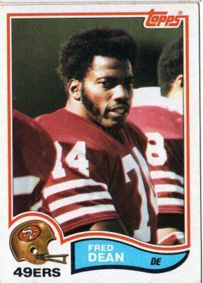 Fred Dean SAN FRANCISCO 49ers Fred Dean 483 TOPPS 1982 NFL American Football