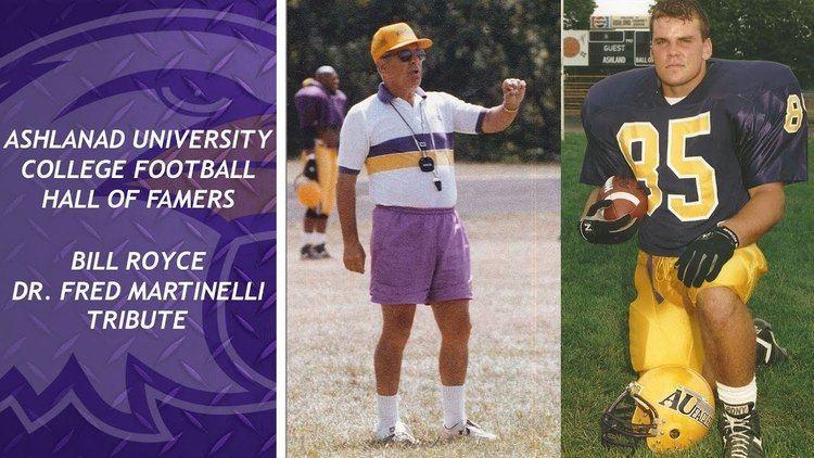 Fred Martinelli Bill RoyceDr Fred Martinelli Tribute Ashland College Football