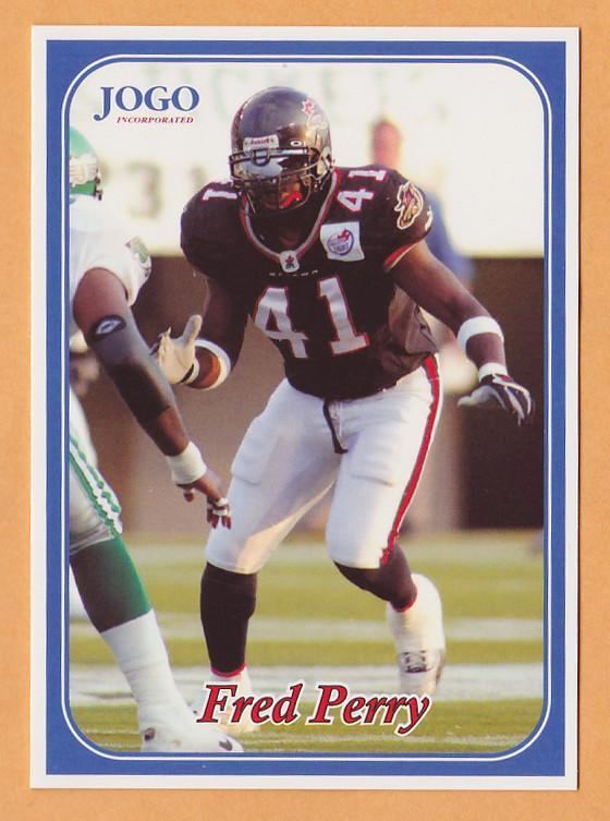 Fred Perry (Canadian football) Fred Perry CFL card 2003 Jogo 155 Ottawa Renegades Southern