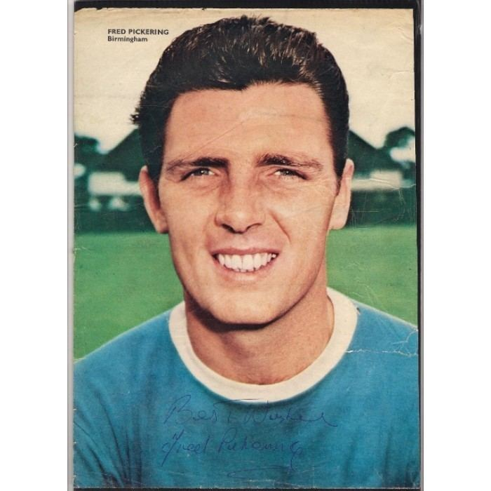 Fred Pickering Signed picture of Fred Pickering the Birmingham City footballer