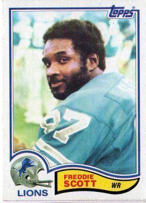 Freddie Scott (American football) DETROIT LIONS Freddie Scott 347 TOPPS 1982 NFL American Football Card