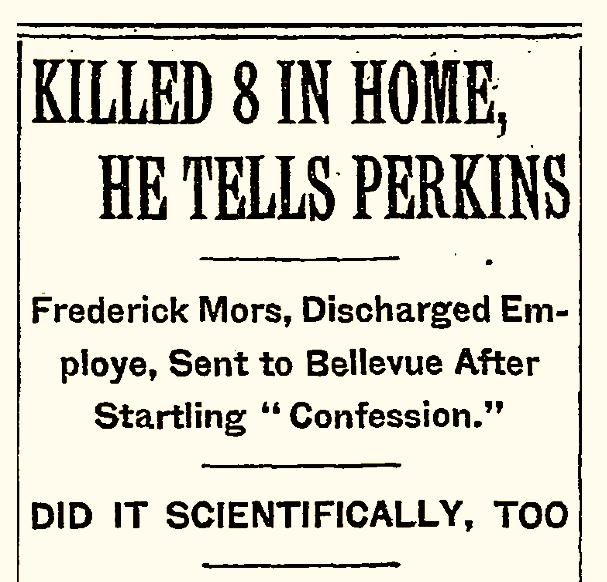 Frederick Mors Serial Killer Frederick Mors Ephemeral New York