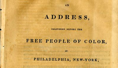 Free people of color Address Delivered Before the Free People of Color in June 1831