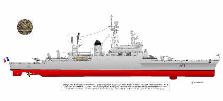 French cruiser Colbert (C611) C611 Colbert WIP Shipbucket