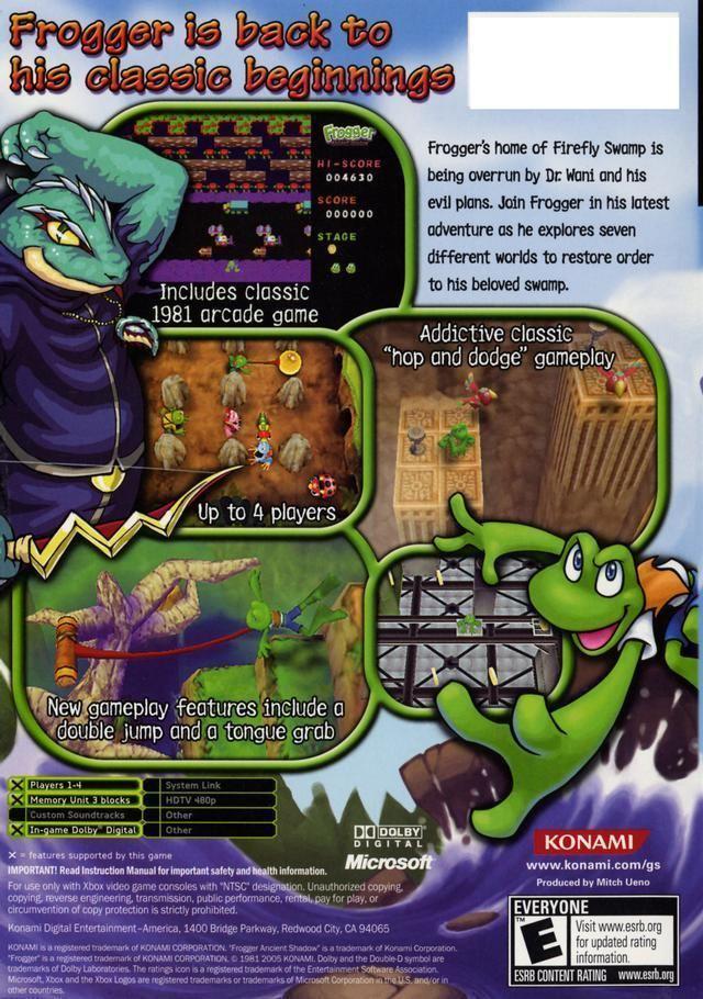 Frogger: Ancient Shadow Frogger Ancient Shadow Box Shot for Xbox GameFAQs