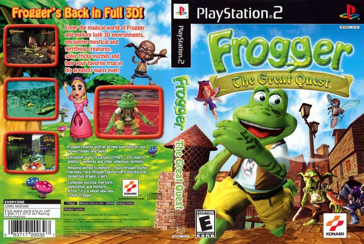 Frogger: The Great Quest Frogger The Great Quest Cover Download Sony Playstation 2 Covers