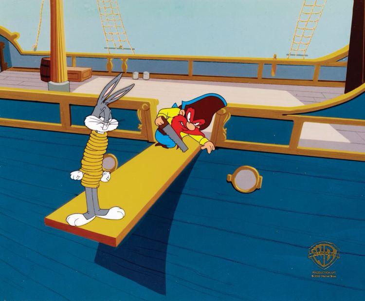 From Hare to Eternity Production Cel Featuring Bugs Bunny And Yosemite Sam From From Hare