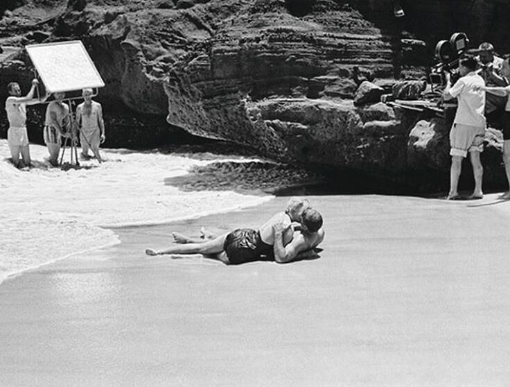 From Hare to Eternity movie scenes Deborah Kerr and Burt Lancaster filming From Here to Eternity Fred Zimmermann 1953