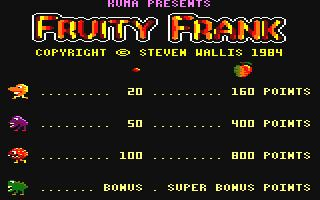 Fruity Frank Download Fruity Frank Amstrad CPC My Abandonware