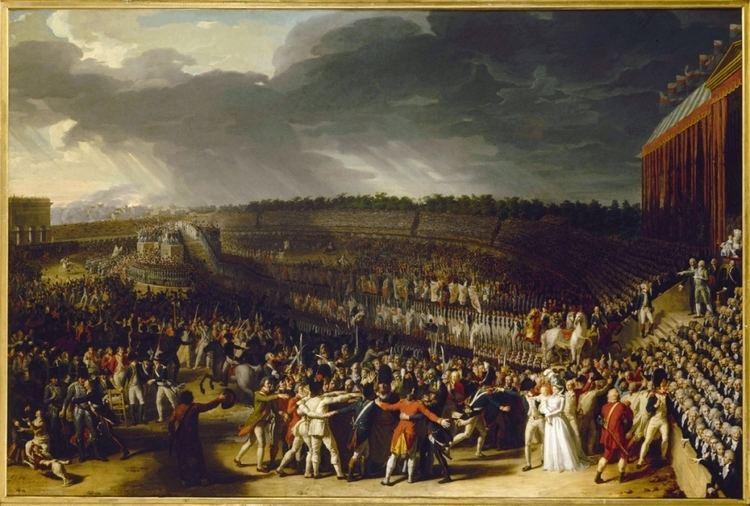 Fête de la Fédération La fte de la Fdration le 14 juillet 1790 au ChampdeMars