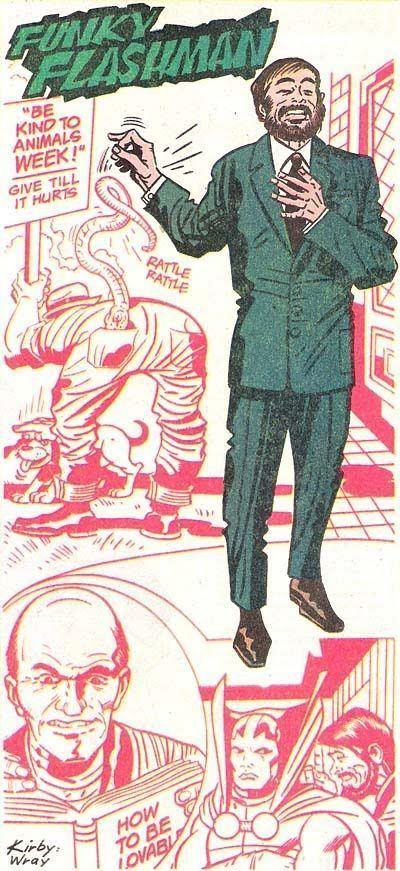 Funky Flashman Funky Flashman from Who39s Who Jack Kirby Comic Pin Ups Pinterest