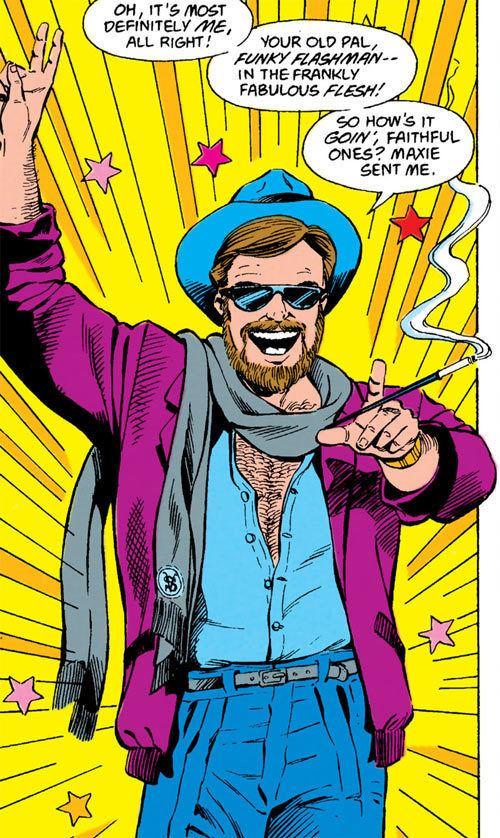 Funky Flashman Funky Flashman Jack Kirby PreCrisis DC Comics Writeupsorg