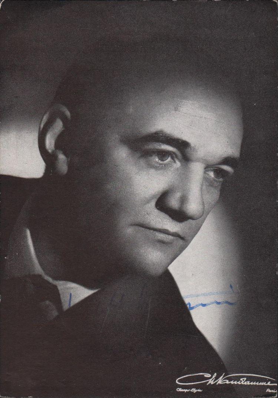 Gabriel Bacquier Operarex GABRIEL BACQUIER Franch Baritone Original Handsigned