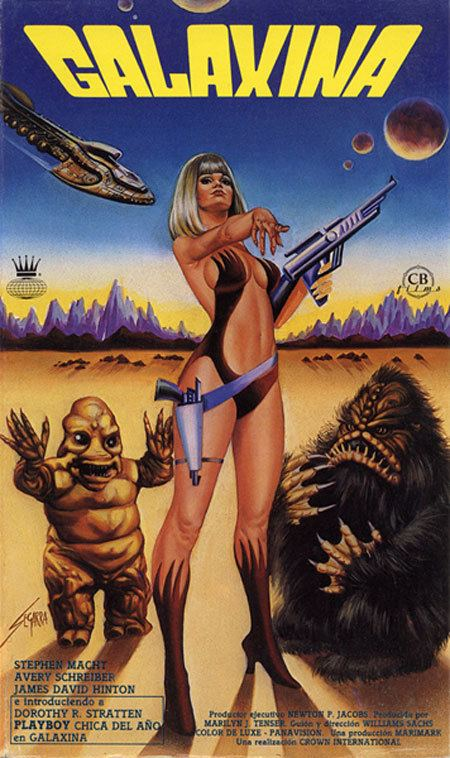 Galaxina space1970 GALAXINA 1980 Advertising Art
