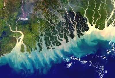 Ganges Delta Space in Images 2004 05 MERIS image of the Ganges delta India