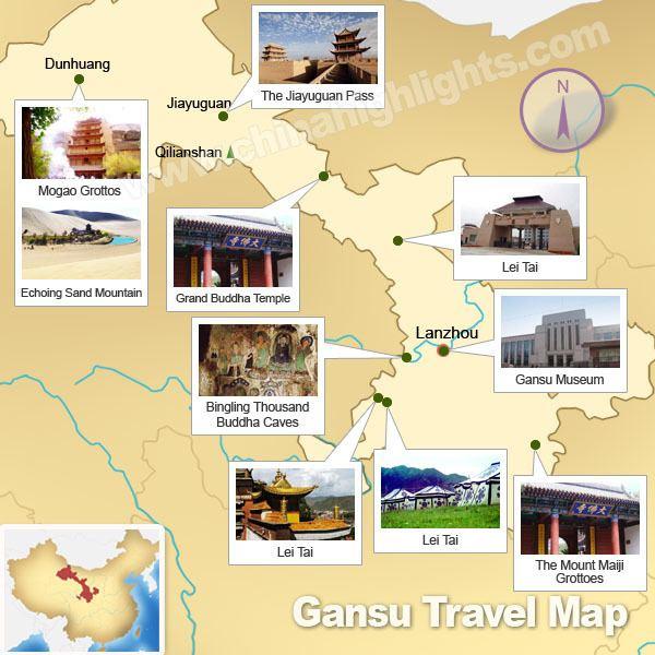 Gansu Tourist places in Gansu