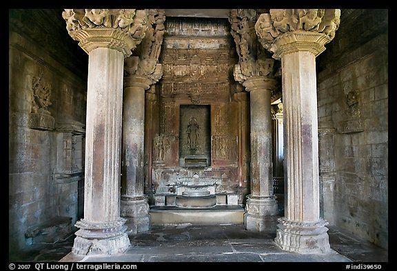Garbhagriha PicturePhoto Columns and inner sanctum garbhagriha of Lakshmana