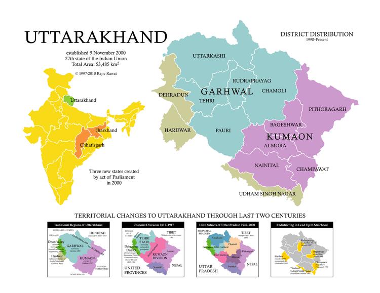 Garhwal division Dev Bhoomi Uttarakhand Uttaranchal Tourism Guide In India