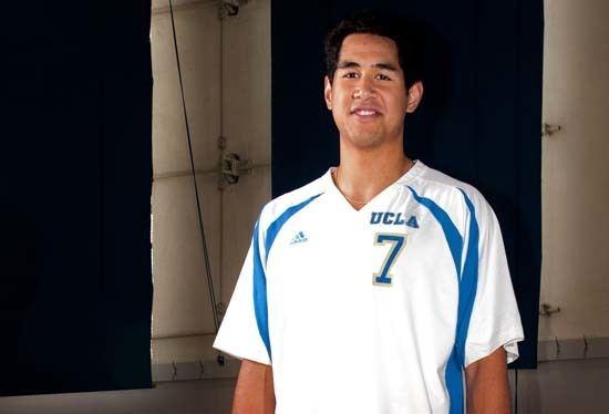 Garrett Muagututia Senior Garrett Muagututia leads UCLA mens volleyball to