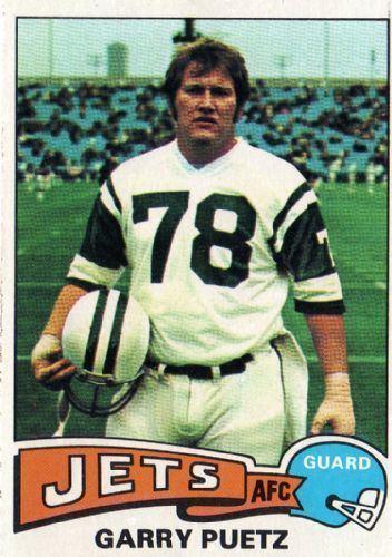 Garry Puetz NEW YORK JETS Garry Puetz 259 TOPPS 1975 NFL American Football