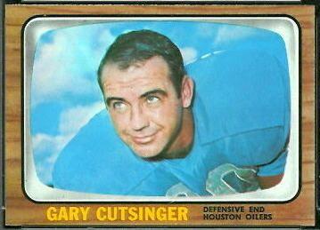 Gary Cutsinger wwwfootballcardgallerycom1966Topps52GaryCut