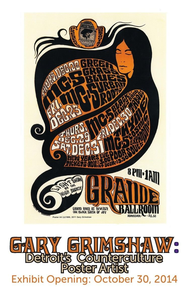 Gary Grimshaw Gary Grimshaw Detroit39s Counterculture Poster Artist