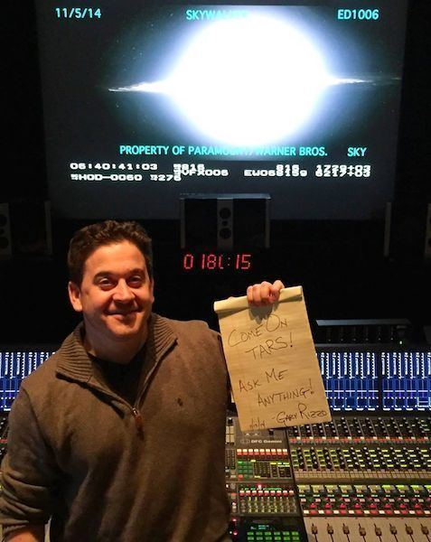 Gary Rizzo 15 Questions With Sound ReRecording Mixer Gary Rizzo Interstellar