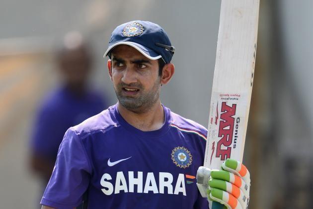 Gautam Gambhir (Cricketer) playing cricket