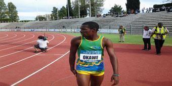 Gauthier Okawe Le Gabonais Gauthier Okawe houe sur 100m aux 7mes jeux de la