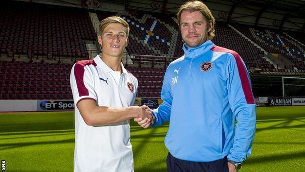 Gavin Reilly BBC Sport Hearts Striker Gavin Reilly agrees threeyear