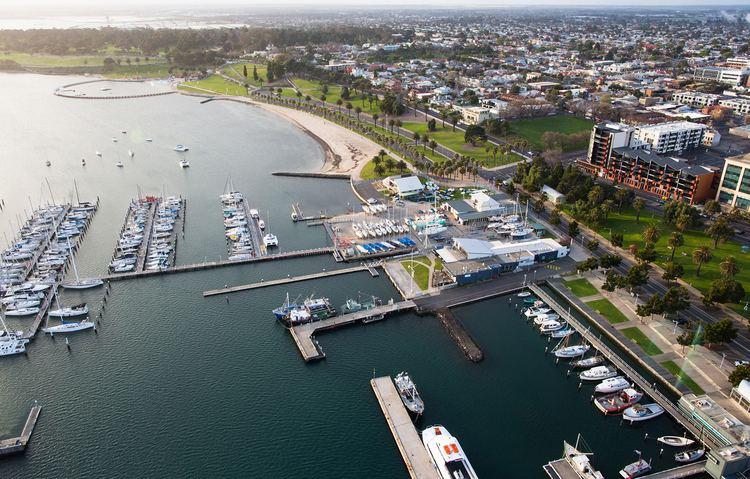 Geelong Waterfront CineFly Drone UAV Aerial Geelong Waterfront CineFly