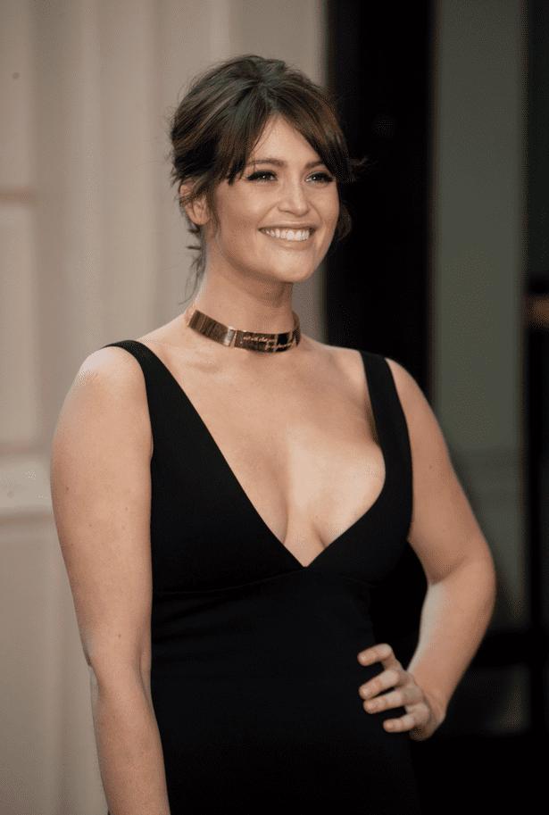 Gemma Arterton Gemma Arterton risks nipple slip in risqu low cut frock