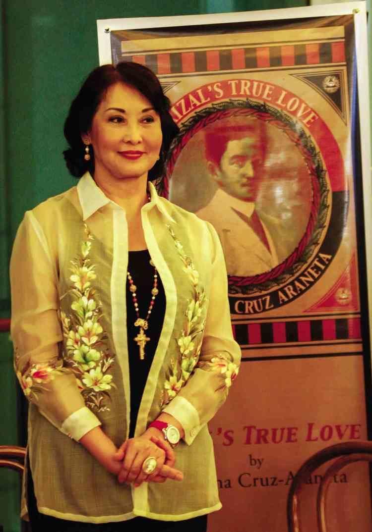 Gemma Cruz-Araneta Gemma reveals 39Rizal39s True Love39 Inquirer lifestyle