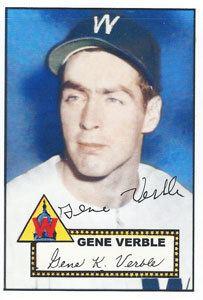 Gene Verble wwwbaseballalmanaccomplayerspicsgeneverble