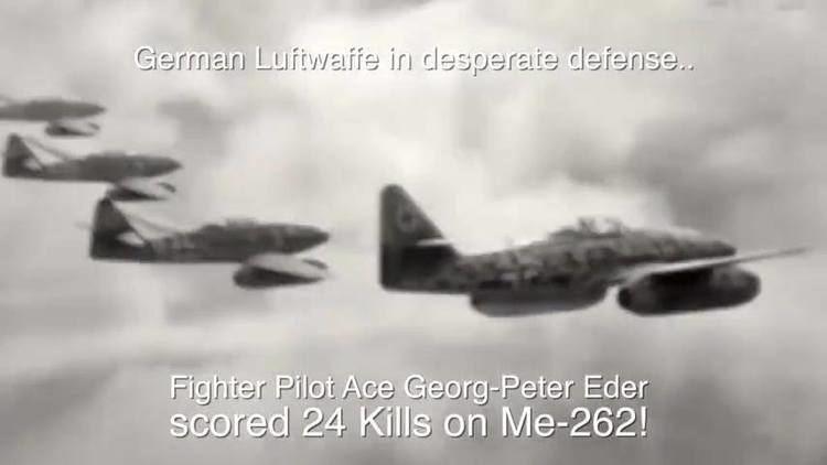Georg-Peter Eder Messerschmitt Me 262 kills B 17 Luftwaffe Ace Major Georg Peter Eder