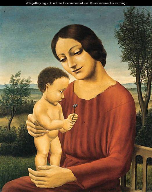 Georg Schrimpf Landschaft mit Mutter und Kind Georg Schrimpf