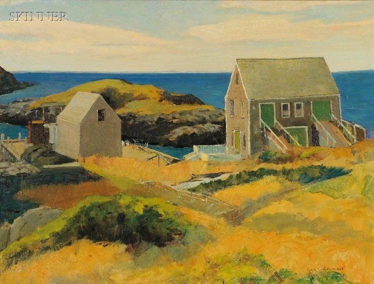 George Adomeit George Gustav Adomeit American 18791967 Maine Coastal View