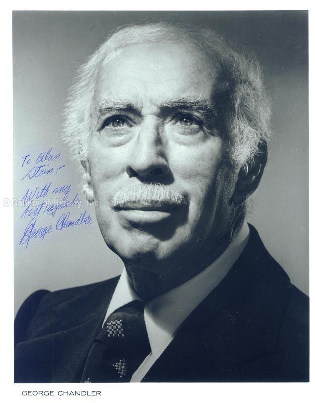 George Chandler George Chandler Photograph Signed Autographs Manuscripts