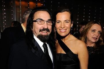 """George DiCaprio and Roberta Armani attend the cocktail party to celebrate the New York premiere of """"Shutter Island"""" at Armani Ristorante"""