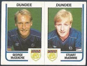 George McGeachie PANINI FOOTBALL 84459ABDUNDEEGEORGE McGEACHIE STUART