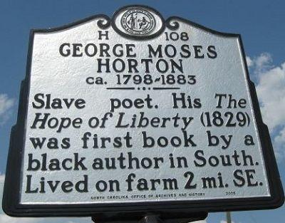 George Moses Horton Horton George Moses NCpedia