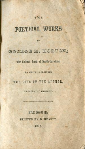 George Moses Horton Marker H108