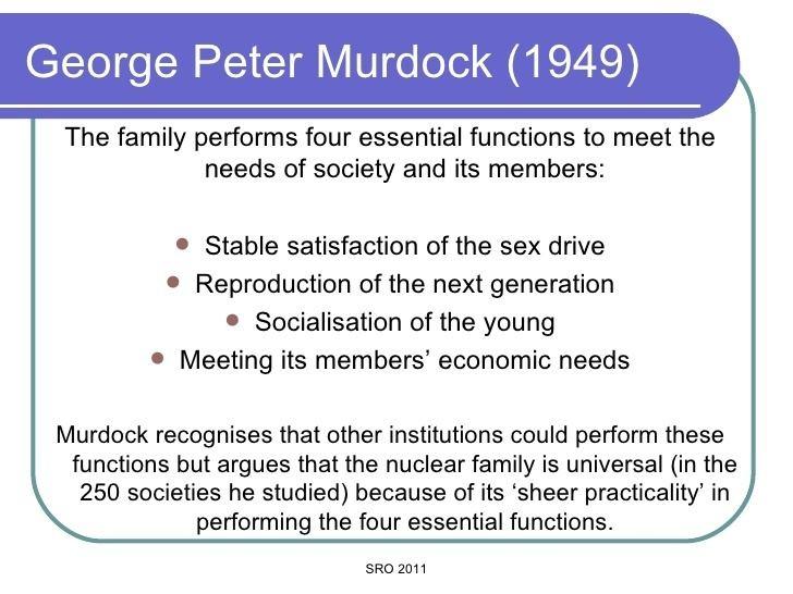george murdocks list of cultural universals