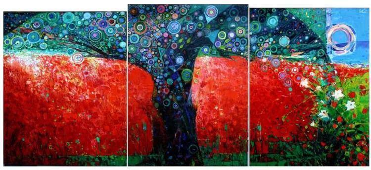 George Pali Saatchi Art Red Tree summer Painting by George Pali