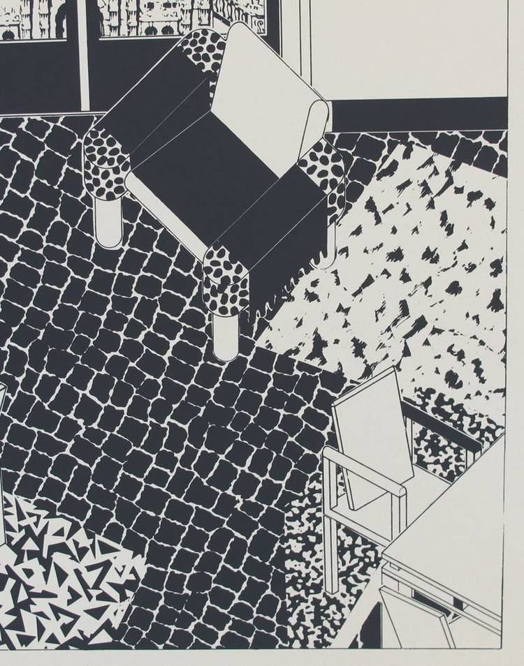 George Sowden George Sowden Memphis Milano Limited Edition Litho of a Modern