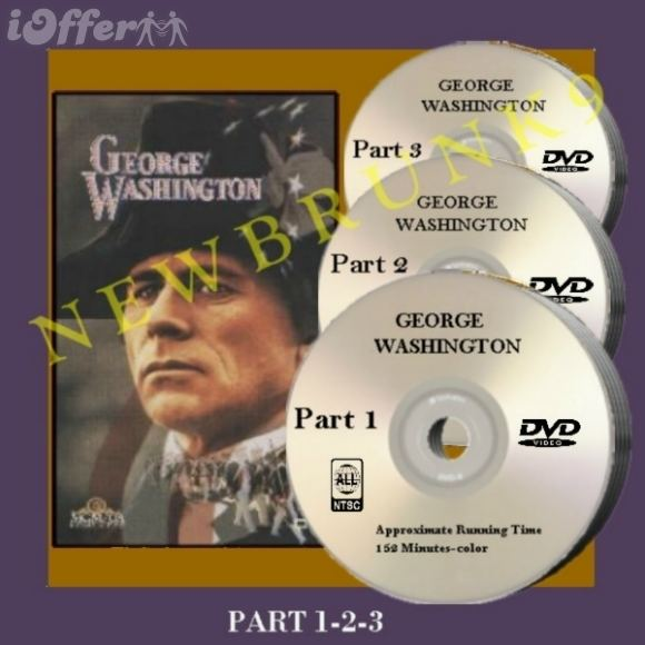 George Washington (miniseries) GEORGE WASHINGTON MINI SERIES DVD Barry Bostwick 1984 for sale