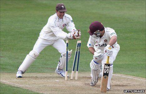 BBC Sport Cricket Kent wicketkeeper Geraint Jones awarded