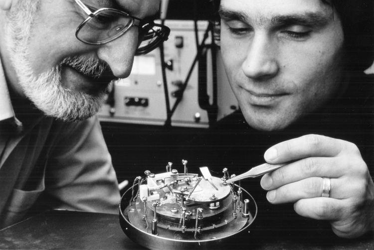 Gerd Binnig Heinrich Rohrer and Gerd Binnig In 1986 IBM scientists He Flickr