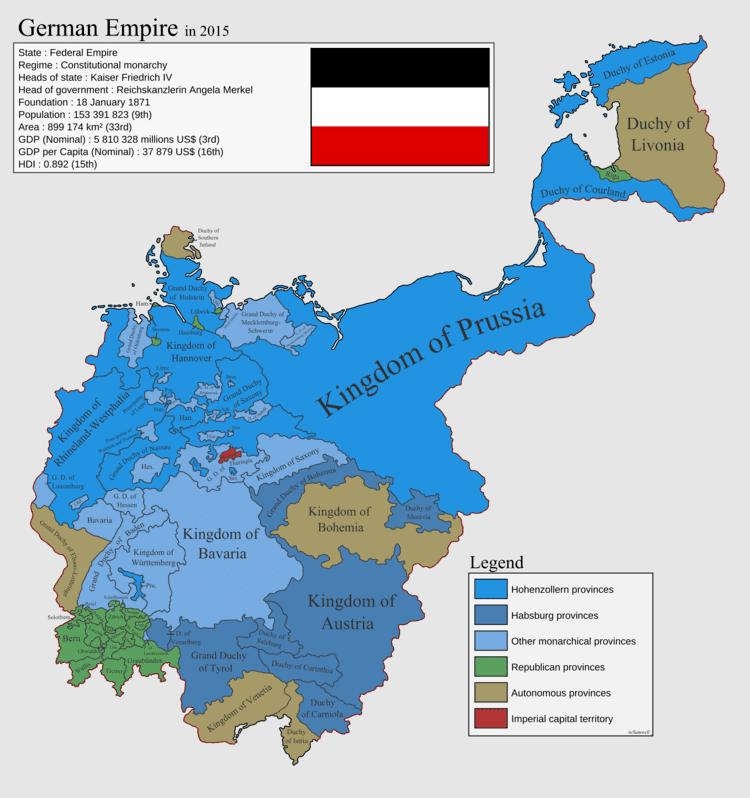 German Empire German Empire in 2015 imaginarymaps