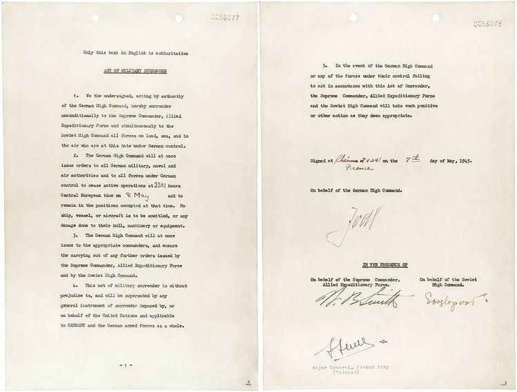 German Instrument of Surrender